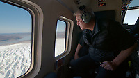 An Inconvenient Sequel: Truth to Power (2017)<br /> Al Gore in a helicopter in Greenland<br /> *Filmstill - Editorial Use Only*<br /> CAP/FB<br /> Image supplied by Capital Pictures