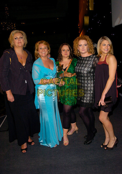 SUE CLEAVER, WENDI PETERS, VICKY BINNS, JENNIE McALPINE & JENNY PLATT.Inside Arrivals at the RTS Programme Awards, .Grosvenor House Hotel, Park Lane, London, England, March 13th 2007..full length Corrie Coronation Street Cast.CAP/CAN.©Can Nguyen/Capital Pictures