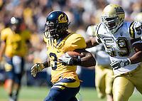 September 4, 2010:  Jeremy Ross of California runs away from Keenan Graham of UCLA during punt return against UCLA at Memorial Stadium in Berkeley, California.  California defeated UCLA 35-7