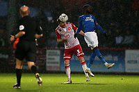Chris Stokes of Stevenage and Mohamed Eisa of Peterborough United during Stevenage vs Peterborough United, Emirates FA Cup Football at the Lamex Stadium on 9th November 2019
