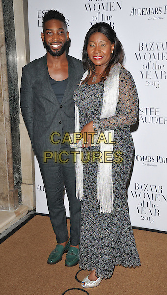Tinie Tempah ( Patrick Okogwu ) &amp; his Mum attend the Harper's Bazaar Women of the Year Awards 2015, Claridge's Hotel, Brook Street, London, England, UK, on Tuesday 03 November 2015. <br /> CAP/CAN<br /> &copy;CAN/Capital Pictures