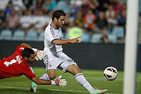 26.08.2012 SPAIN -  La Liga 12/13 Matchday 2th  match played between Getafe C.F. vs Real Madrid CF (0-0) at Alfonso Perez stadium. The picture show Gonzalo Higuain (Argentine/French Forward of Real Madrid)