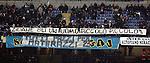 """tifosi  dell'Inter striscione su zinedine Zidane.Milano 07/3/2010 Stadio """"Giuseppe Meazza"""".Inter Genoa.Campionato Italiano Serie A 2009/2010.Foto Bibi Insidefoto"""