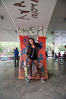 Melissa Monter, 18 years old. San Cosme skate park, in Mexico City.  Release #