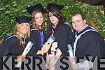 Aoife Gilbourne, Limerick, Michelle Collins, Athea, Kerrie O'Halloran, Listowel and Declan Morgan, Meath, who graduated with a Bachelor of Arts (Honours) in Social Care at the Autumn graduations which took place at the Brandon hotel on Friday.