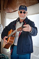 Russ Morrison, Frontline, warms up backstage before performing during the 4th Annual Bluegrass 'Jammin' in the Hammock' Festival at Collier-Semiole State Park, Naples, Florida, Feb. 12, 2011. Photo by Debi PIttman Wilkey