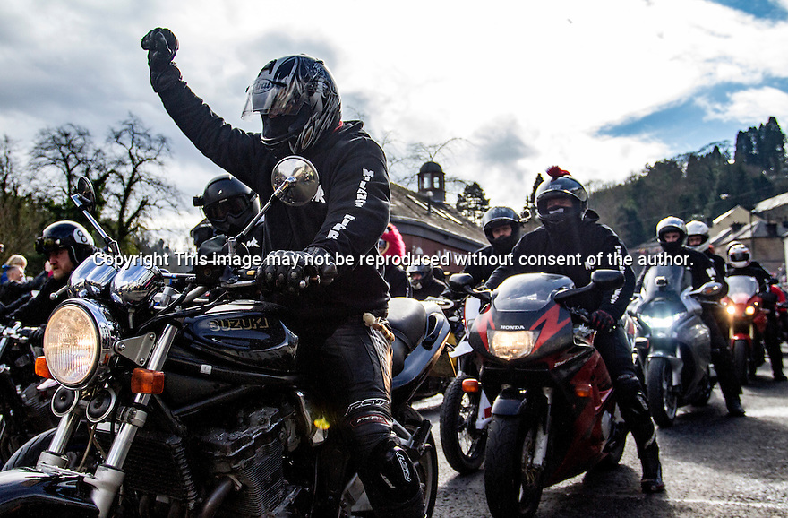 06/03/2015<br />Today (Sunday) hundreds of bikers take to the streets of the Victorian spa town of Matlock Bath, Derbyshire, in protest of proposed parking charges, that many say will greatly impact tourism to the area.<br /><br />……………………………………………………………………………………………………………………………………………….<br /> All Rights Reserved: F Stop Press Ltd. +44(0)1335 418365   +44 (0)7765 242650 www.fstoppress.com