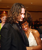 American Idol rejects Constantine Maroulis and Nadia Turner arrive at the 2005 White House Correspondents Dinner in Washington, D.C. on April 30, 2005..Credit: Ron Sachs / CNP.(RESTRICTION: No New York Metro or other Newspapers within a 75 mile radius of New York City)
