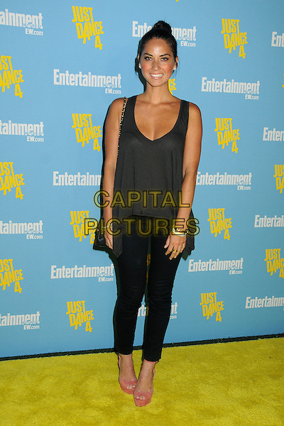 Olivia Munn.Entertainment Weekly's Comic-Con 2012 Celebration held at the Hard Rock Hotel Float Lounge, San Diego, California, USA..July 14th, 2012.full length grey gray sleeveless top black jeans denim pink shoes .CAP/ADM/BP.©Byron Purvis/AdMedia/Capital Pictures.