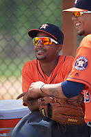 Houston Astros Edwin Medina (52) before a minor league Spring Training game against the Detroit Tigers on March 30, 2016 at Tigertown in Lakeland, Florida.  (Mike Janes/Four Seam Images)