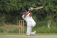 Jas Hothi of Rainahm during Bentley CC (Bowling) vs Rainham CC, T Rippon Mid Essex Cricket League Cricket at Coxtie Green Road on 9th June 2018