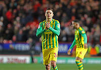 Conor Townsend of West Bromwich Albion thanks the West Bromwich Albion fans during Charlton Athletic vs West Bromwich Albion, Sky Bet EFL Championship Football at The Valley on 11th January 2020