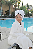 Stock photo of asian woman at spa