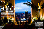 """High Life"", story for Discovery (Cathay Pacific) magazine on rooftop bars in HCMC, November 2008"