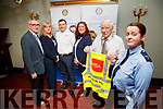 Pictured on Tuesday last at the Imperial Hotel, Tralee, to launch the 'Just One Life' Project, which takes place on Friday March 9th, in conjunction with the Transition year students, attending Mercy Mounthawk Secondary School, Tralee, l-r; George Philips, Siobhan Murphy, Michael Flynn, Grace O'Donnell, Graham Borley and Sergeant Eileen O'Sullivan.