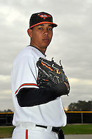 Feb 27, 2010; Tampa, FL, USA; Baltimore Orioles  pitcher Wilfrido Perez (59) during  photoday at Ed Smith Stadium. Mandatory Credit: Tomasso De Rosa