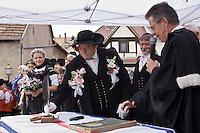 Europe/France/Alsace/67/Bas-Rhin/ Marlenheim: Lors  de la Fête du Mariage de l'Ami Fritz - la cérémonie