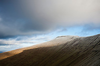 Pen Y Fan with winter frost on summit, Brecon Beacons national park, Wales
