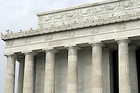 Lincoln Memorial Washington DC.The Lincoln Memorial located on the Mall in Washington DC. A US National Landmark with beautiful architectural detail including columns and a statue of Abraham Lincoln. A popular tourist destination in Washington DC. Many iconic images of this Washington DC Monument. Washington D.C.