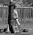Oakland Raiders training camp August 10, 1982 at El Rancho Tropicana, Santa Rosa, California.   Raiders owner Al Davis.