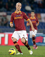 Calcio, Serie A: Roma vs Palermo. Roma, stadio Olimpico, 4 novembre 2012..AS Roma midfielder Michael Bradley, of the United States, in action during the Italian Serie A football match between AS Roma and Palermo, at Rome's Olympic stadium, 4 november 2012..UPDATE IMAGES PRESS/Riccardo De Luca