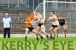 Michael Moloney Dr Crokes and Shane O'Callaghan Stacks challenge for the ball during their County Championship clash in Fitzgerald Stadium on sunday