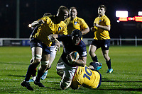 TRY - London Scottish score a third during the Championship Cup match between London Scottish Football Club and Yorkshire Carnegie at Richmond Athletic Ground, Richmond, United Kingdom on 4 October 2019. Photo by Carlton Myrie / PRiME Media Images