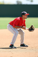 Jeremy Cruz, Los Angeles Angels 2010 extended spring training..Photo by:  Bill Mitchell/Four Seam Images.