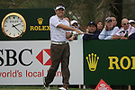 Louis Oosthuizen tees off on the 9th tee during Day 2 Friday of the Abu Dhabi HSBC Golf Championship, 21st January 2011..(Picture Eoin Clarke/www.golffile.ie)
