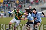 Kerry's Kieran Donaghy and Dublin's l-r: Rory O'Carroll & Cian O'Sullivan.