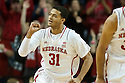 December 14, 2013: Shavon Shields (31) of the Nebraska Cornhuskers gives a fist pump after a score against the Arkansas State Red Wolves at the Pinnacle Bank Areana, Lincoln, NE. Nebraska defeated Arkansas State 79 to 67.
