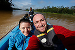 Allison and I on the Kinabatangan River on Tuesday April 30th 2013 in Bilit, Malaysia. (Photo by Brian Garfinkel)