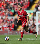 Liverpool's Ragnar Klavan in action during the premier league match at the Anfield Stadium, Liverpool. Picture date 19th August 2017. Picture credit should read: David Klein/Sportimage