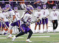 University at Albany Men's Lacrosse defeats Drexel 18-5 on Feb. 24 at Casey Stadium.  Ualbany Cougar Kirby (#22). (Photo by Bruce Dudek / Cal Sport Media/Eclipse Sportswire)