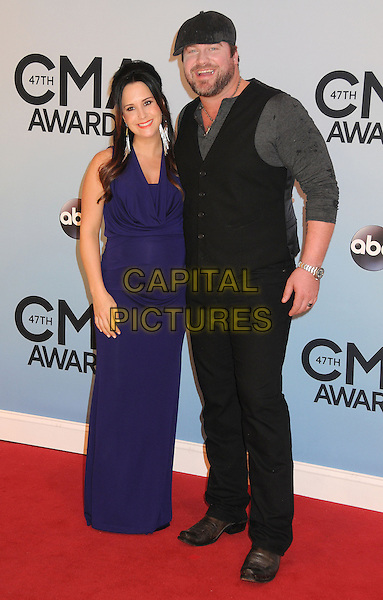 NASHVILLE, TENNESSEE - NOVEMBER 06: Lee Brice, Sara Brice at the 47th CMA Awards, Country Music's Biggest Night, held at Bridgestone Arena on November 6th, 2013 in Nashville, Tennessee, USA.<br /> CAP/ADM/BP<br /> &copy;Byron Purvis/AdMedia/Capital Pictures