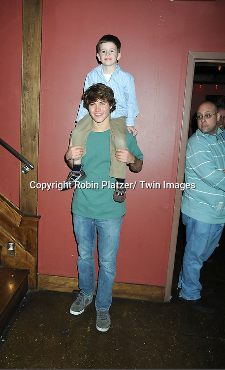 Andrew Trischitta and Patrick Gibbons, Jr attends The One Life To Live Benefit for The Amber Roach Memorial Garden on January 7, 2012 at Brother ..Jimmy's BBQ Union Square Restaurant in New York City.