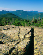 Scenic view from along Davis Path, near the summit of Mount Crawford, in the White Mountains, New Hampshire. The Cohos Trail passes by this view.