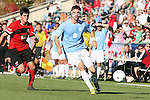 14 November 2010: UNC's Stephen McCarthy (8) and Maryland's John Stertzer (27). The University of Maryland Terrapins defeated the University of North Carolina Tar Heels 1-0 at WakeMed Soccer Park in Cary, North Carolina in the ACC Men's Soccer Tournament Championship game.