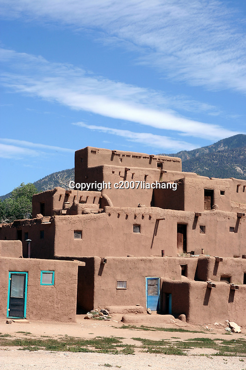 Taos Pueblo, Taos, N.M. August 20, 2007. Photo by Lia Chang