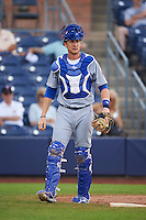 Mesa Solar Sox catcher Cael Brockmeyer (16) during an Arizona Fall League game against the Peoria Javelinas on October 21, 2015 at Peoria Stadium in Peoria, Arizona.  Peoria defeated Mesa 5-3.  (Mike Janes/Four Seam Images)