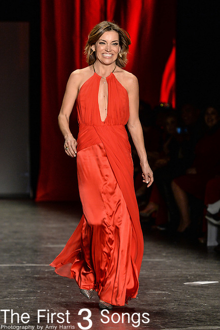 Kit Hoover walks the runway during the American Heart Association's Go Red For Women Fashion Show at the Mercedes-Benz Fashion Week Fall 2016 in New York City.