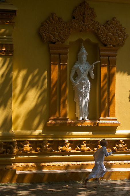 Gangaramaya (Vihara) Buddhist Temple in Colombo.<br /> Today Gangaramaya serves not only as a place of Buddhist worship; it is also a centre of learning. The temple is involved in Buddhist welfare work including old peoples' homes, a vocational school and an orphanage. The temple is uniquely attractive and tolerant to congregation members of many different religions.