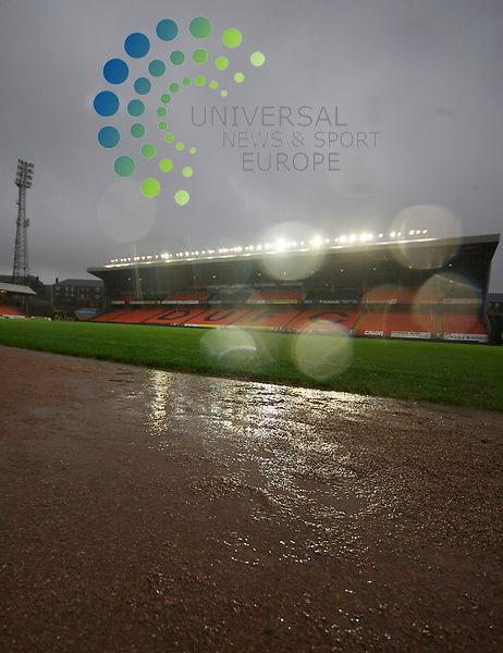 Scottish Clydesdale Bank Premier League, Championship Season 2009/10.Dundee United Football Club  V Rangers Football Club...  Due to the wet weather the game was called off by Ref Mike Tumilty     , during today's thrilling Premier League encounter between Dundee United and Rangers at Tannadice Stadium, Dundee...Picture, Mark Davison/Universal News and Sport.
