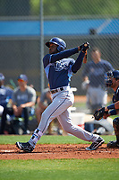 Tampa Bay Rays Bralin Jackson (44) during a minor league Spring Training intrasquad game on April 1, 2016 at Charlotte Sports Park in Port Charlotte, Florida.  (Mike Janes/Four Seam Images)