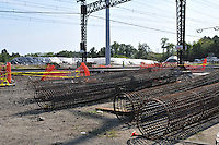Rebar on Site for Bridge, Rail Overpass, Piers. Construction Progress Photography of the Railroad Station at Fairfield Metro Center - Site visit 3 of once per month Chronological Documentation