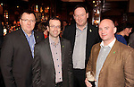 Thomas Marry and  Declan Lennon, SurfBox, Kilkenny , Niall Flynn, Glasson Golf Hotel, and Martin Cassidy, Cassidys Hotel,  at the Irish Hotels Federation Conference 'President's Dine Around' event in The  Killarney Park Hotel  on Monday  night. Picture: MacMonagle, Killarney