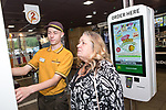 © Joel Goodman - 07973 332324 . 14/08/2015 . Hyde , UK . McDonalds' new order screen and waited table service at their branch in Mottram , Hyde . Photo credit : Joel Goodman