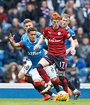 07.04.2018 Rangers v Dundee:<br /> Simon Murray with James Tavernier, Greg Docherty and Ross McCrorie