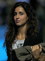 Xisca Perello, girlfriend of Rafael Nadal of Spain, smiles at the ATP World Tour Finals, The O2, London, 2015