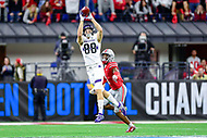 Indianapolis, IN - DEC 1, 2018: Northwestern Wildcats wide receiver Bennett Skowronek (88) catches a pass during second half action of the Big Ten Championship game between Northwestern and Ohio State at Lucas Oil Stadium in Indianapolis, IN. Ohio State defeated Northwestern 45-24. (Photo by Phillip Peters/Media Images International)